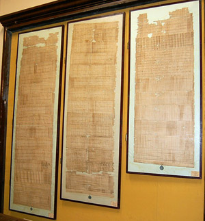 The three papyrus Bulls recording the promotion of Archbishop Ató of Osona